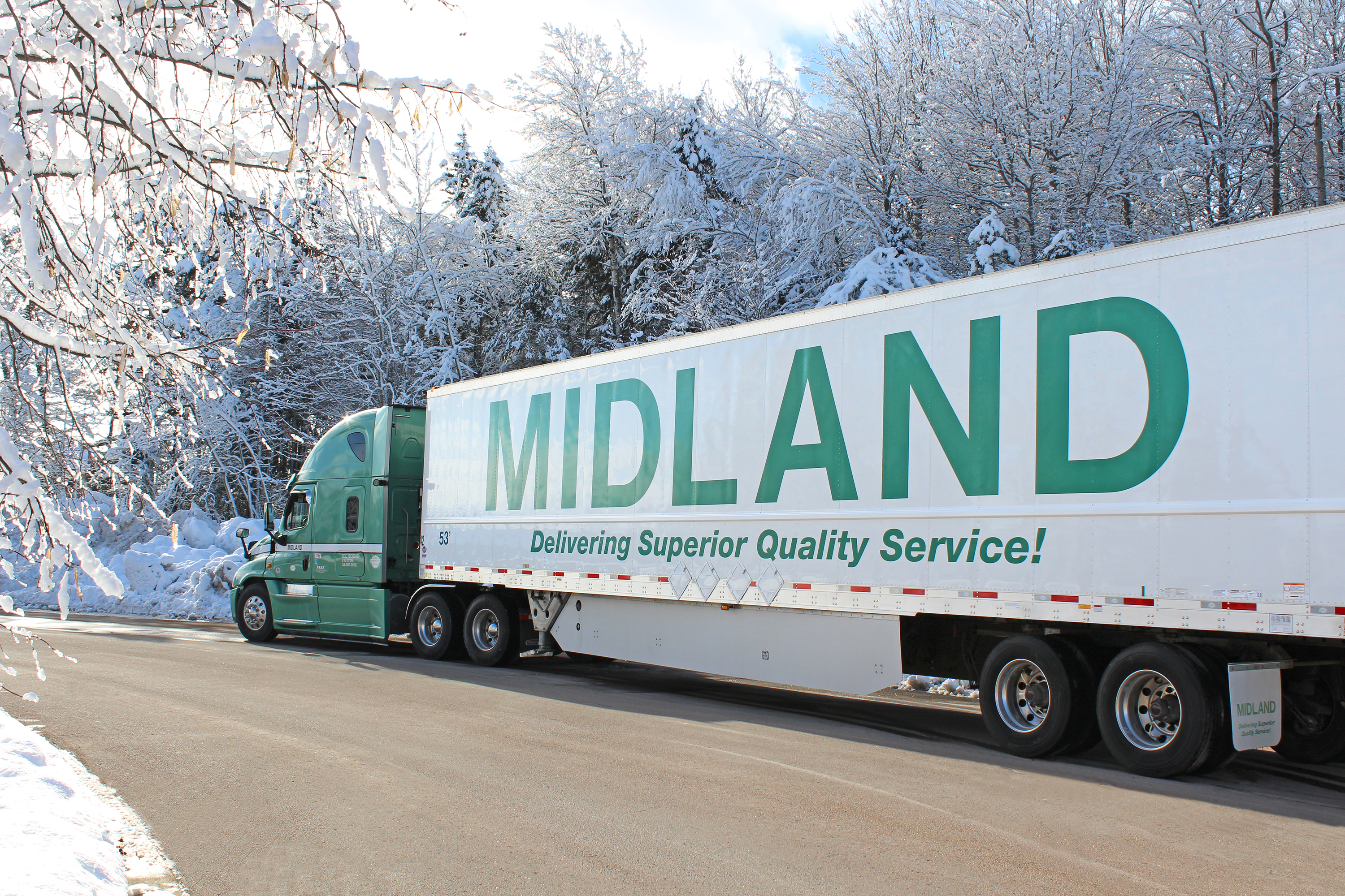 Winter Midland Truck